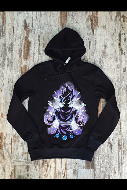 Built By Crazy Unisex Siyah Goku Sweatshirt Gkngoku321