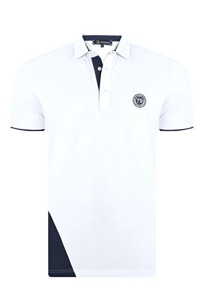 Giorgio Di Mare Erkek Beyaz Kısa Kollu Polo T-shirt