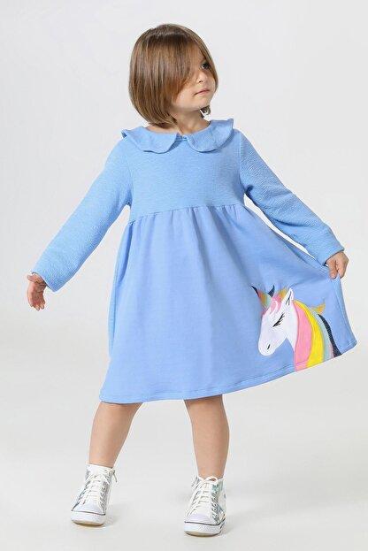 ZENOKIDO Unicolor Yakalı Elbise
