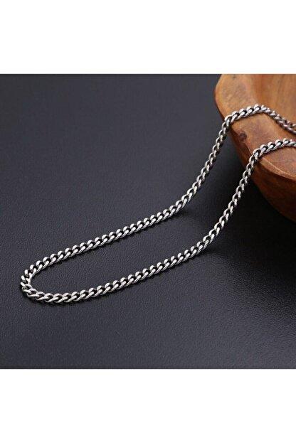 ERGONOMİSEPETİ Kaliteli Gümüş Modeli Unisex Bakla Kuban Salaş Zincir 70 Cm