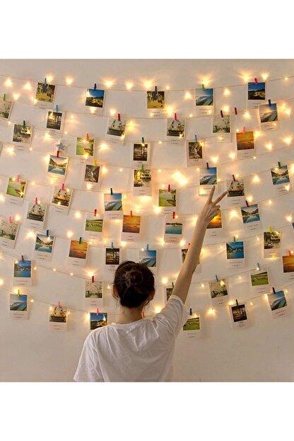 Nihal Kına Evi 3 Metre Ve 25 Adet Mini Mandallı Peri Led Işık (sarı) Fotoğraf Asmalık Led Fotoğraf Asmalık Led Işık