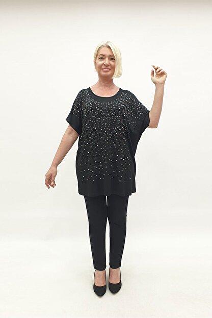MİRAGGİO BÜYÜK BEDEN Bluz 92958 Siyah