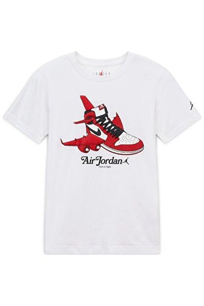 Nike Nıke Jorden Aj1 Takeoff Çocuk Beyaz Tişört