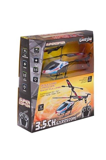 Gamestar Unisex Çocuk Beyaz 3,5 Kanal Gyro Süper Kopter Uzaktan Kumandalı Helikopter