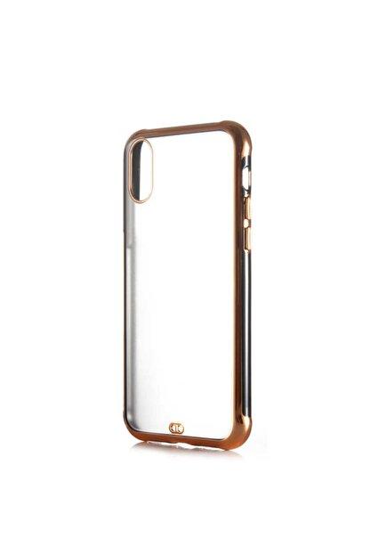 Dijimedia Apple Iphone X Arkası Şeffaf Mat Sert Renkli Plastik Kapak ve Ekran Koruyucu