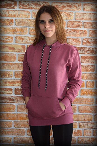 YGMR Fashion Kadın Mor  Sweatshirt Gknpink321