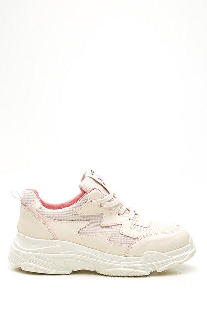 Ayakkabı Modası Kadın Bej Pudra  Sneaker