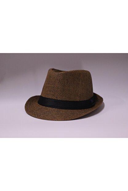 şapka dünyası Unisex Kahverengi Hasır Fötr