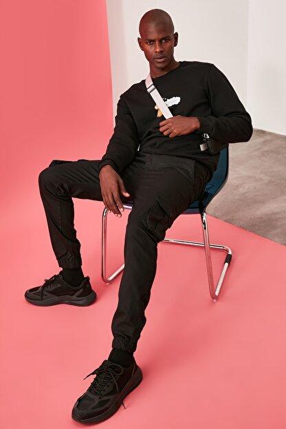 TRENDYOL MAN Siyah Erkek Kargo Jogger Pantolon TMNAW20PL0633