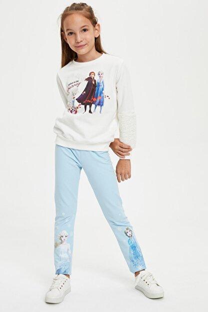 Defacto Kız Çocuk Frozen Lisanslı  Sweatshirt
