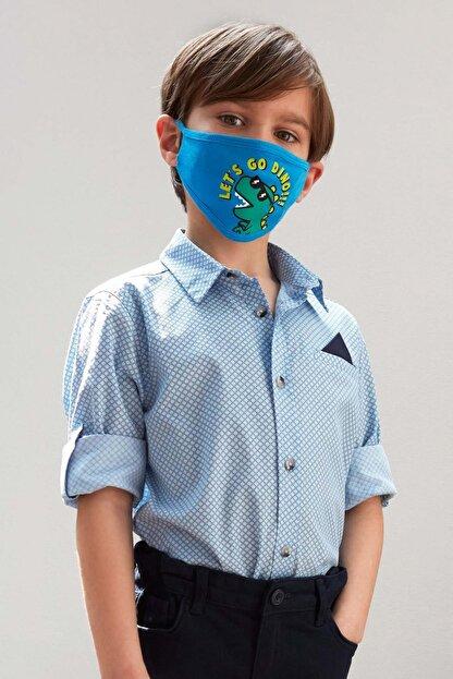 Defacto Erkek Çocuk Baskılı Pamuklu Mendilli Kolları Katlanabilir Gömlek