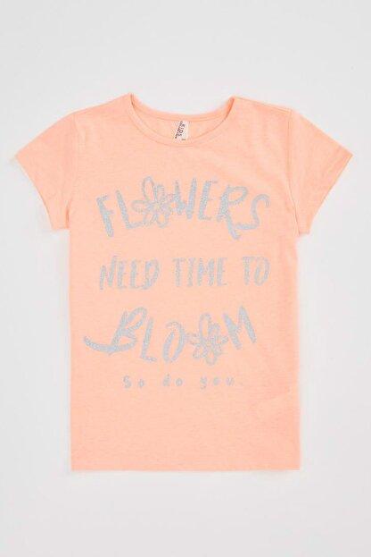Defacto Kız Çocuk Baskılı Kısa Kollu T-shirt