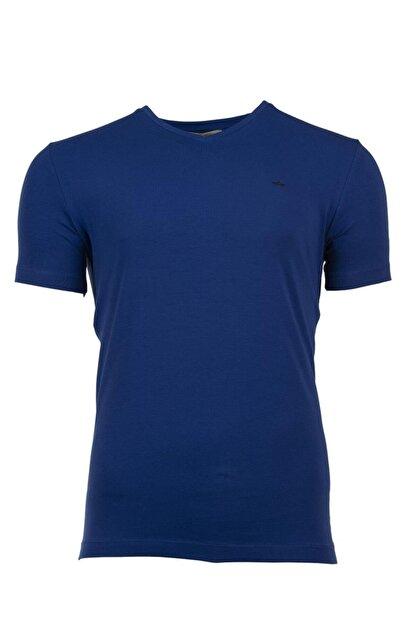 Arma Erkek Lacivert Basic V Yaka Slim Fit T-shirt