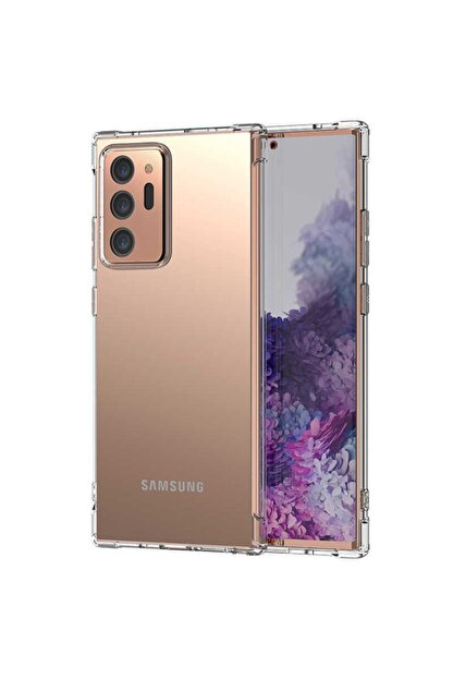 Zore Samsung Note 20 Ultra - Kılıf Anti Shock Darbe Emici Silikon Kılıf + Ekran Koruyucu Hediye