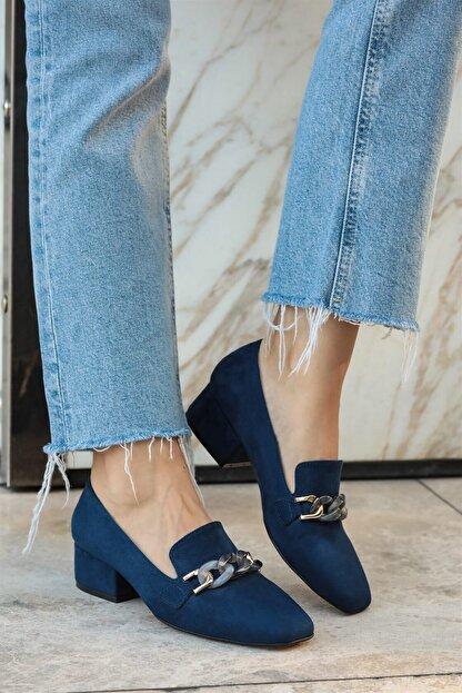 Mio Gusto Magnolia Lacivert Topuklu Ayakkabı