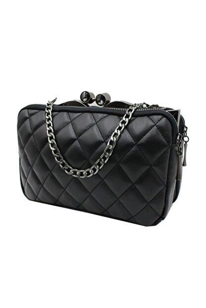 Sanmorris 5003 Kadın Çapraz Çanta Bayan Çanta Siyah-siyah