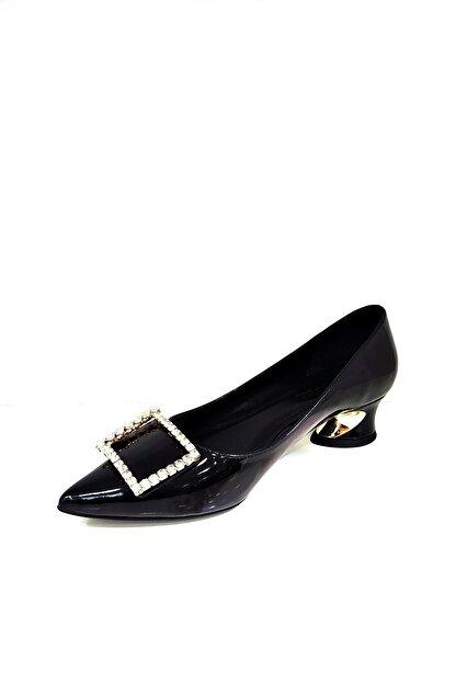 Heels Siyah Kadın Kısa Topuklu Stiletto