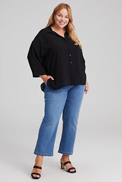 LC Waikiki Kadın Siyah Gömlek 0WDK71Z8