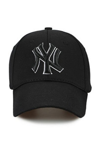 CosmoOutlet NY New York Yankees Siyah Şapka P-080