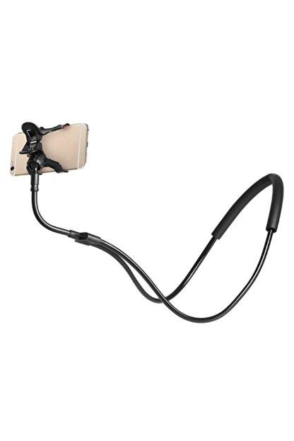 SARFEX Siyah Boyuna Asılan Telefon Tutucu Mandallı