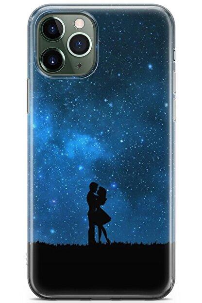 Zipax Samsung Galaxy M11 Kılıf Gece Ve Yarasa Desenli Baskılı Silikon Mel-109518