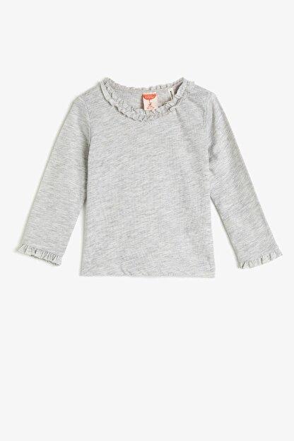 Koton Kar Melanj Kız Bebek T-Shirt