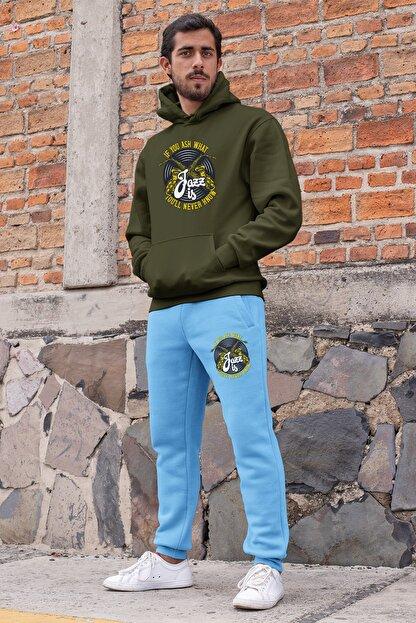 Angemiel Erkek Yeşil Mavi Eşofman Takımı
