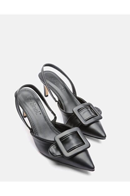 Jorbinol Kadın Siyah Masha Topuklu Ayakkabı