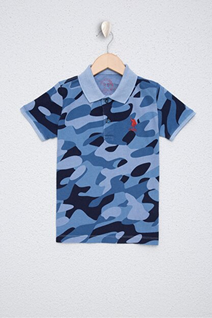 US Polo Assn Mavi Erkek Çocuk T-Shirt