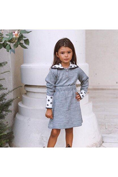 Hilal Akıncı Kids Kolları Leoparlı Triko Etekli Takım