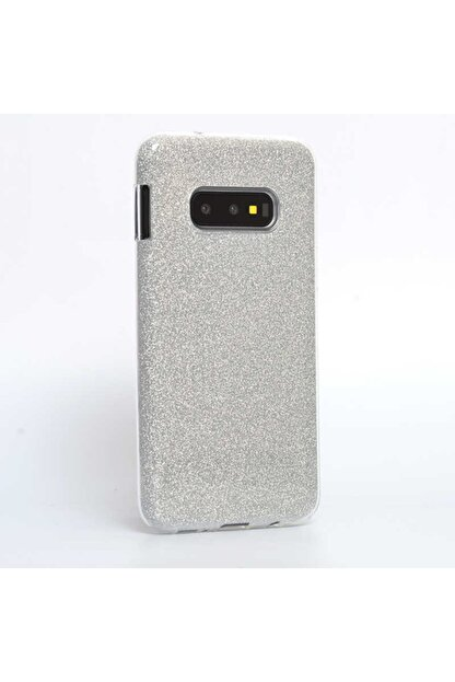 Dijimedia Samsung S10e - Kılıf Simli Silikon Koruyucu Telefon Kılıfı Sınıng
