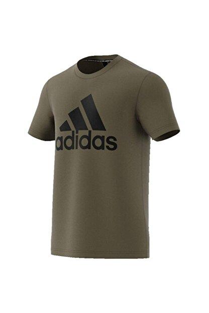 adidas Erkek Haki Baskılı T-shirt