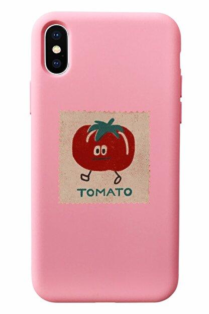 Mupity Tomato Tasarımlı Pudra Lansman Kılıf Iphone X