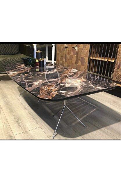 wood home inovation Mermer Desenli Inıtıal Orta Sehpa