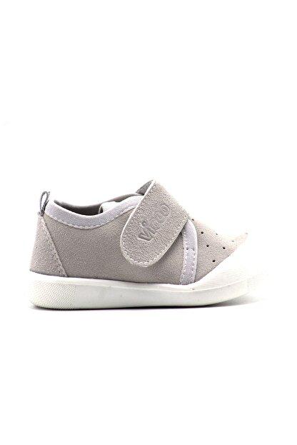 Vicco Unisex Bebek Gri Cırtlı Ayakkabı