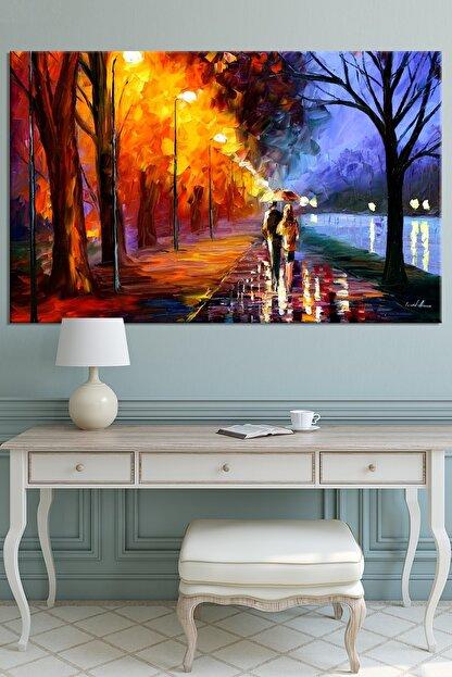 Nazenin Design Sonbaharda Aşk Pastel Doğa Kanvas Tablo 70x50 cm