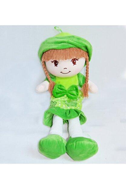 HALLEY Yeşil Oyuncak Bez Bebek Dantel Elbiseli 70 Cm Büyük Boy