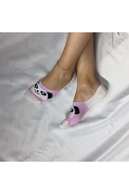 Adel Kadın Beyaz Bambu Dikişsiz Silikonlu Babet Çorap