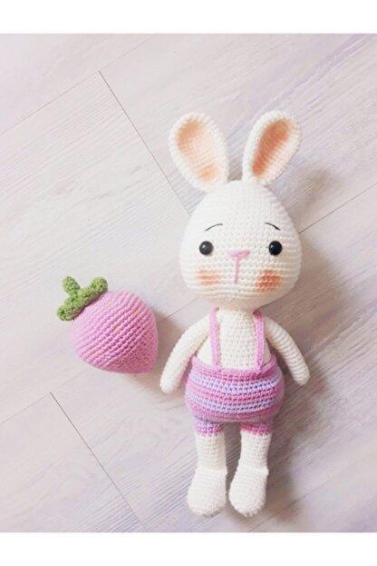 OYUNCAKPARK Tavşan Sunny Ve Çileği Amigurumi Organik Oyuncak