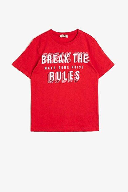 Koton Erkek Çocuk Kırmızı T-Shirt 0YKB16262OK