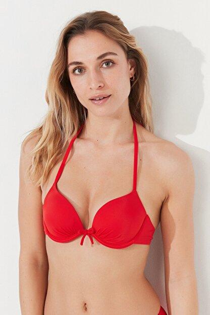 Penti Kadın Kırmızı Basic Push Up Bikini Üstü