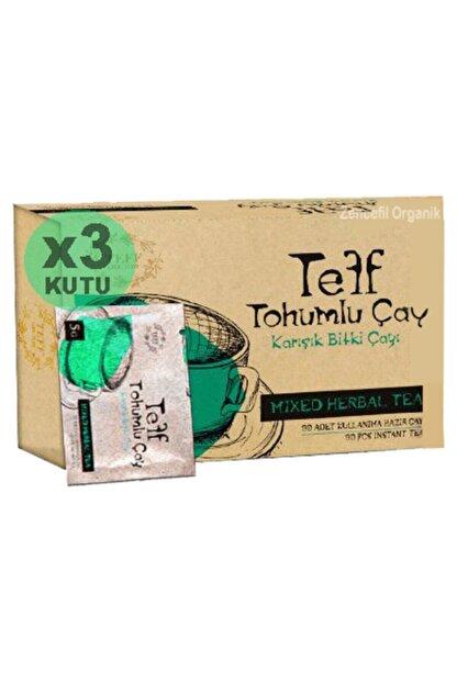 Zencefil Organik 3 Kutu Teff Tohumlu Çay Orijinal Tef Tohumu Çayı