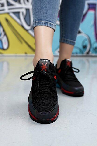Ayakkabı Modası Kadın Siyah Düz Taban Sneaker
