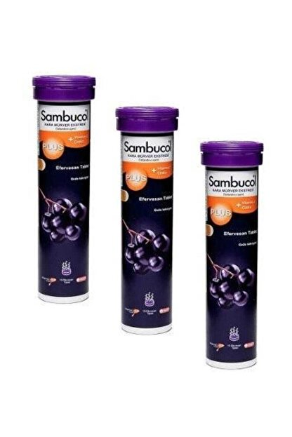 Sambucol Plus Vitamin C Zinc 15 Efervesan 3 Adet