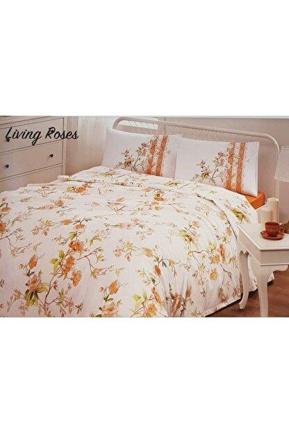 Özdilek Living Roses Pike Takımı Çift Kişilik-turuncu
