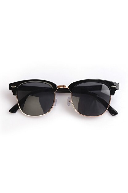 Nilu Moda Unisex Siyah Yuvarlak Güneş Gözlüğü
