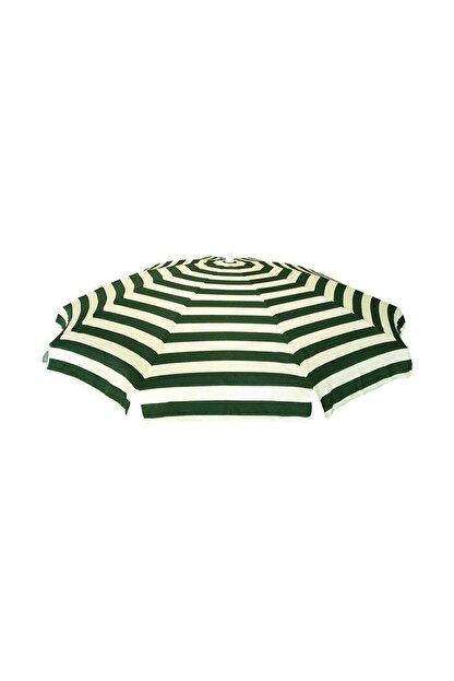 Pineapple Kaliteli Yeşil Çizgili Plaj Şemsiyesi Şezlong Şemsiyesi Havuz Bahçe Şemsiyesi 2 Metre 10 Telli
