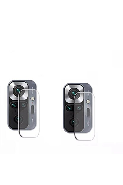 NANOSPACE Xiaomi Redmi Note 10 Pro Nano Esnek Cam Kamera Koruyucu 2 Adet