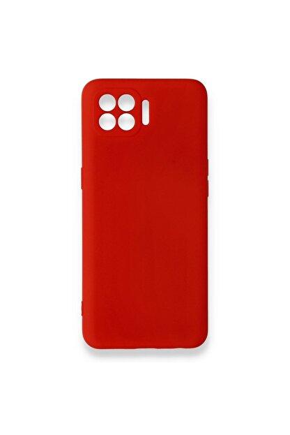 Oppo Reno 4 Lite Uyumlu Içi Kadife Yumuşak Silikon Kılıf Kırmızı