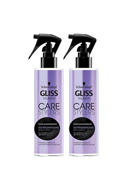 Gliss Care Stylers Elektriklenmeye Karşı Saç Bakım Sütü 150 ml 2'li